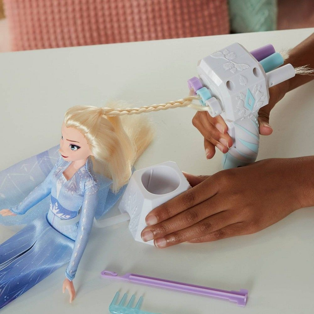 Disney Frozen 2 Sister Styles Elsa Fashion Doll With Extra-Long Blonde Hair, Braiding Tool and Hair Clips Deal