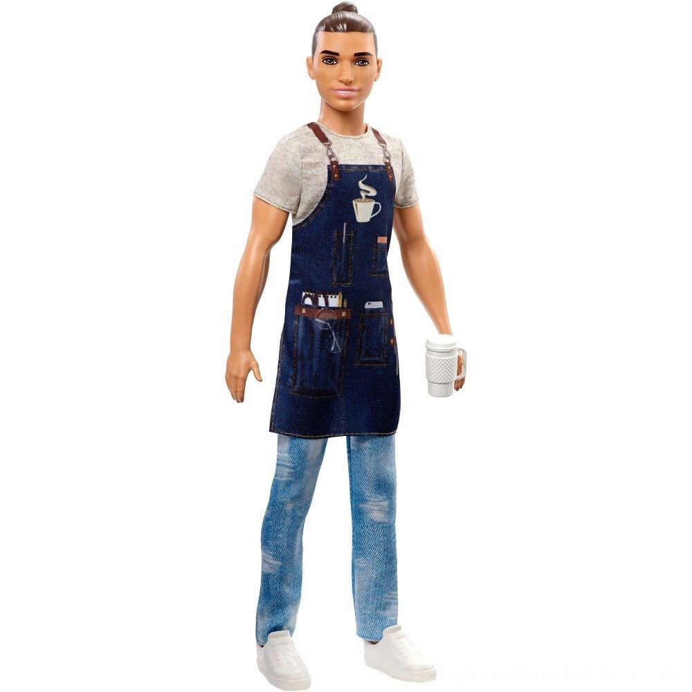 Barbie Ken Career Barista Doll Deal