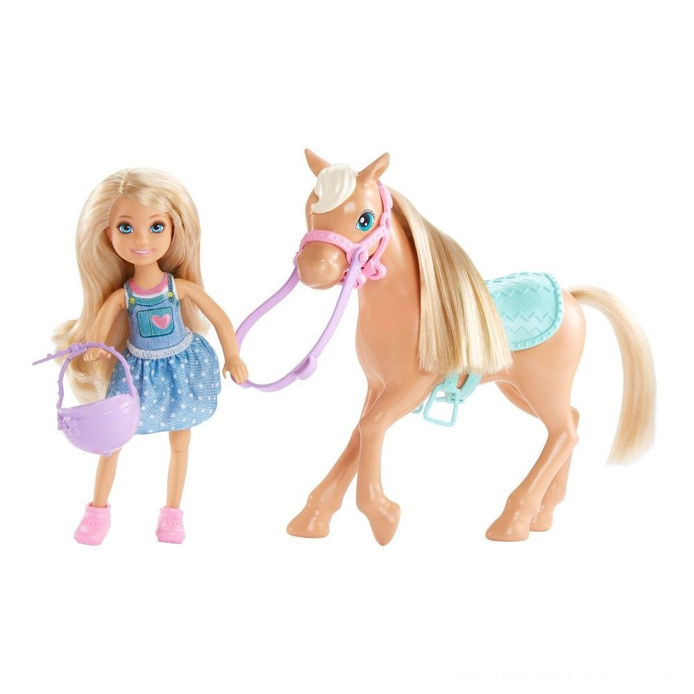 Barbie Chelsea Doll & Pony Playset Deal