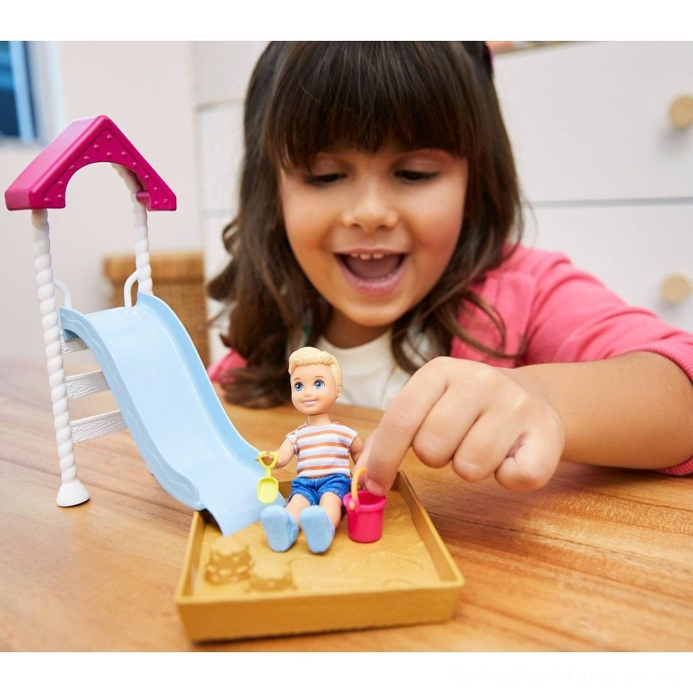 Barbie Skipper Babysitters Inc. Friend Doll and Playground Playset Deal