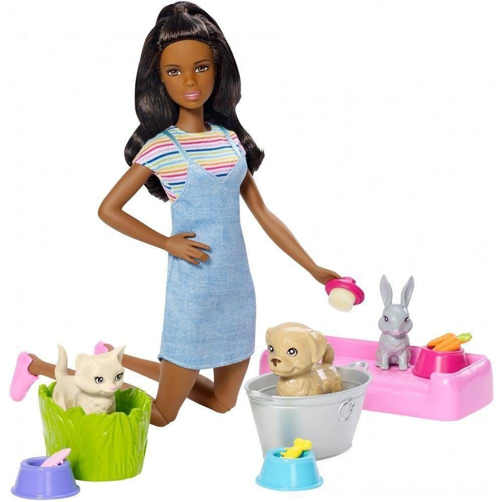Barbie Play 'n' Wash Pets Nikki Doll and Playset Deal