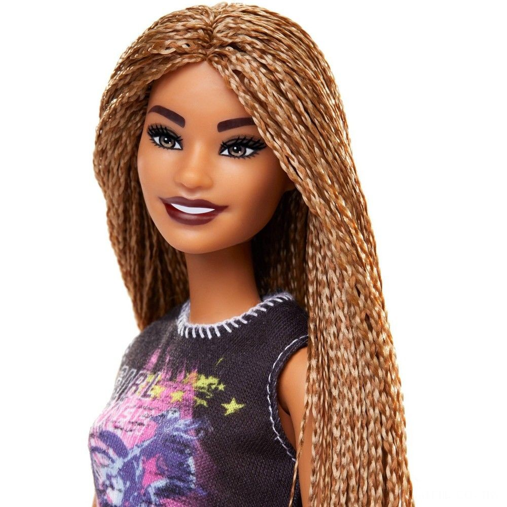 Barbie Fashionistas Doll #123 Girl Power Tee Deal
