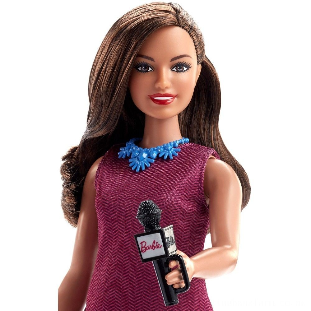 Barbie Careers 60th Anniversary News Anchor Doll Deal