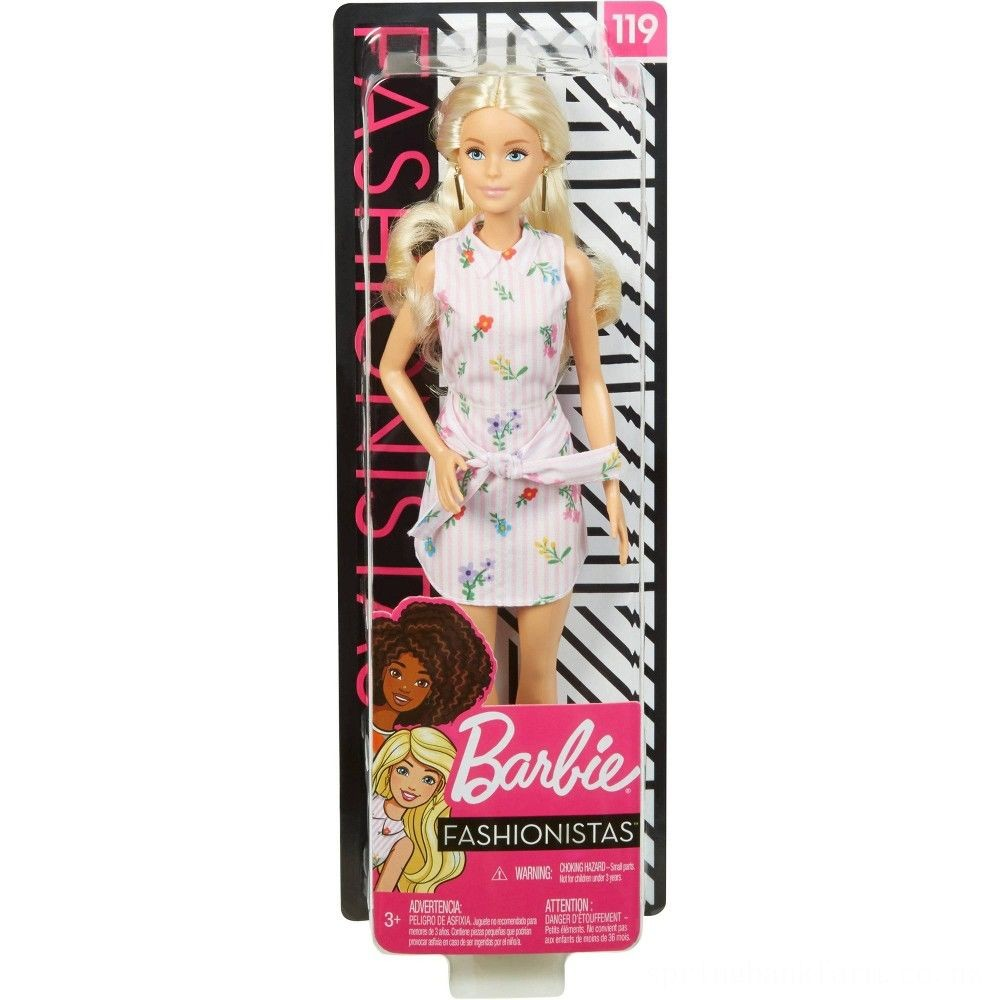 Barbie Fashionistas Doll #119 Pink Shirt Dress Deal