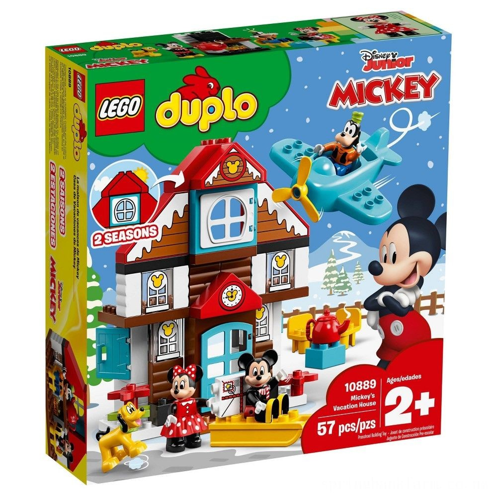 LEGO DUPLO Disney Mickey's Vacation House 10889 Toddler Building Set with Minnie Mouse Deal