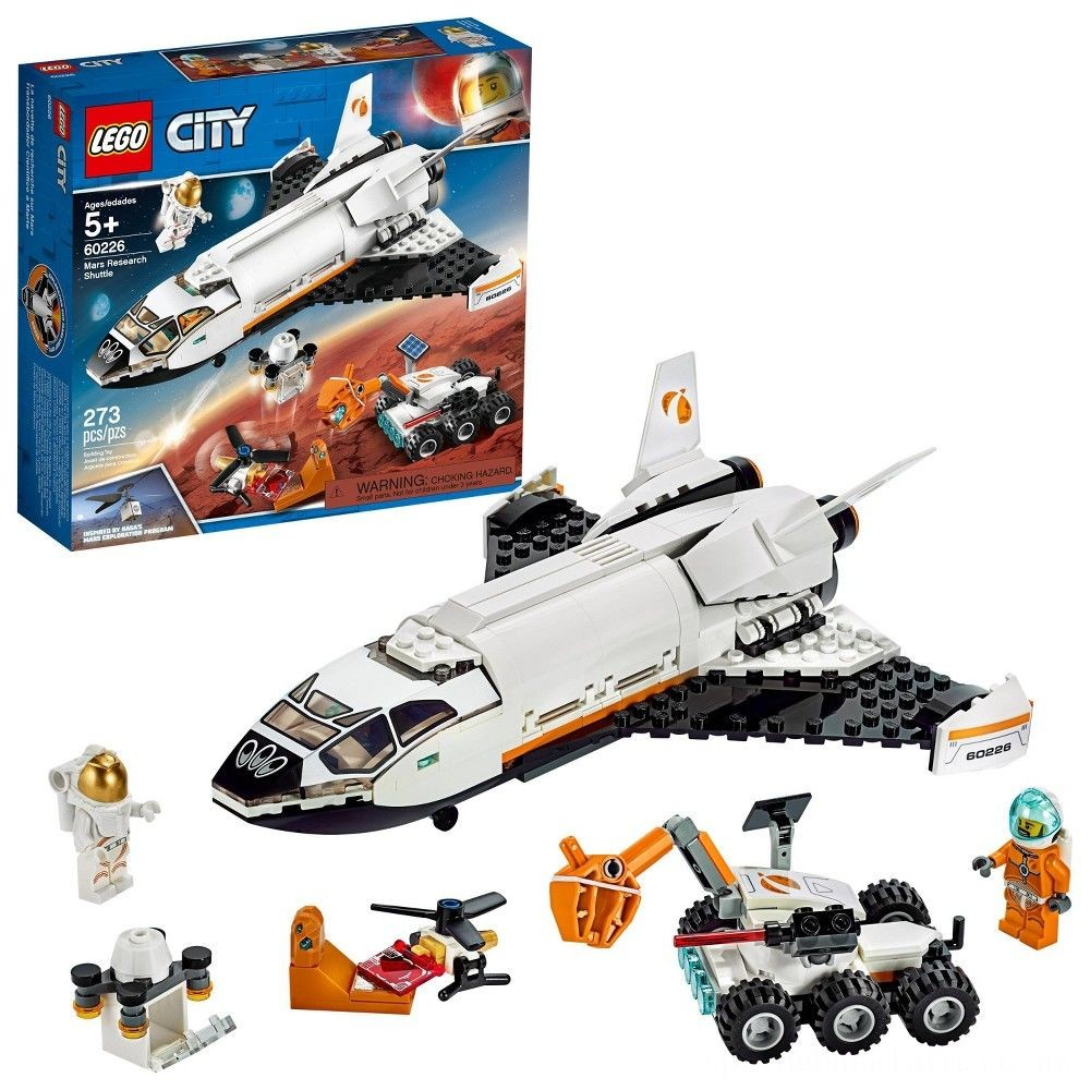LEGO City Space Mars Research Shuttle 60226 Space Shuttle Toy Building Kit with Mars Rover Deal