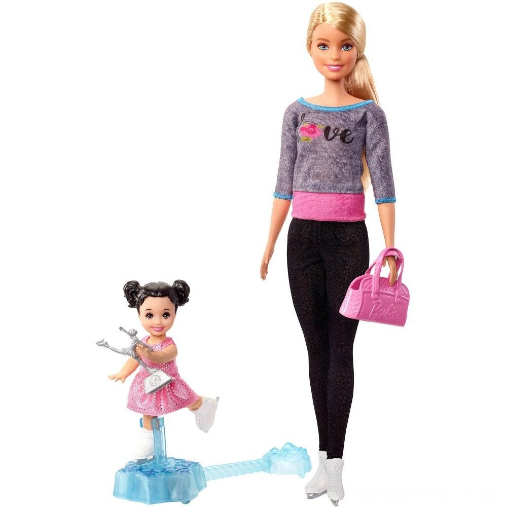 Barbie Ice-skating Coach Dolls & Playset Deal