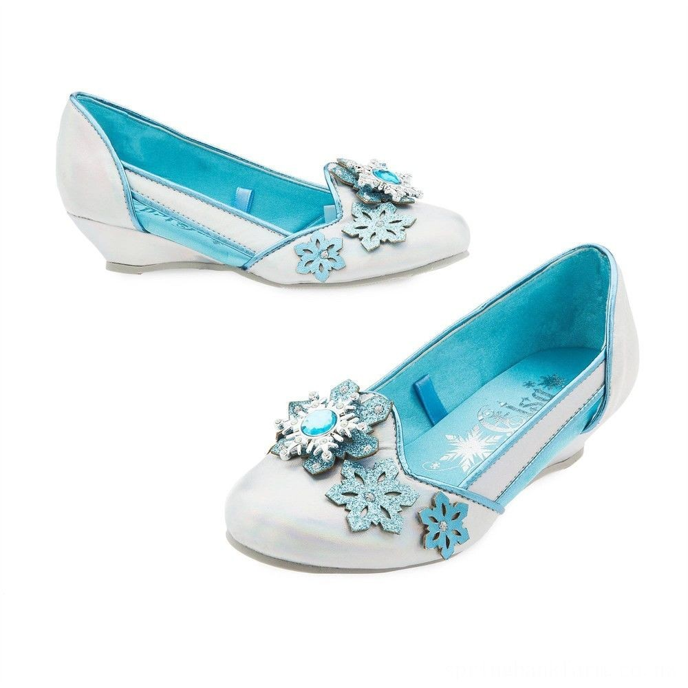 Disney Frozen 2 Elsa Kids' Dress-Up Shoes - Size 13-1, Blue Deal