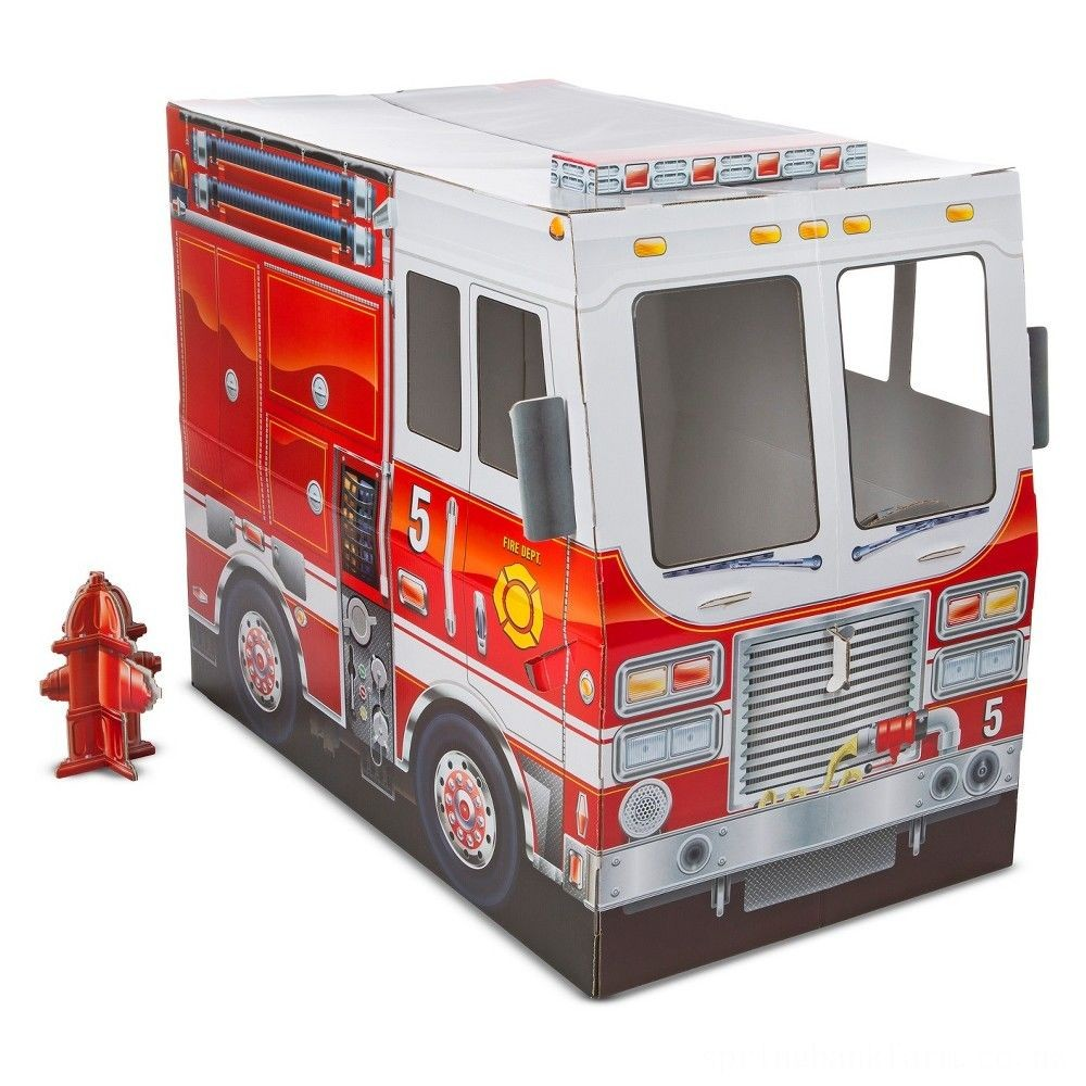 Melissa & Doug Fire Truck Indoor Playhouse Deal