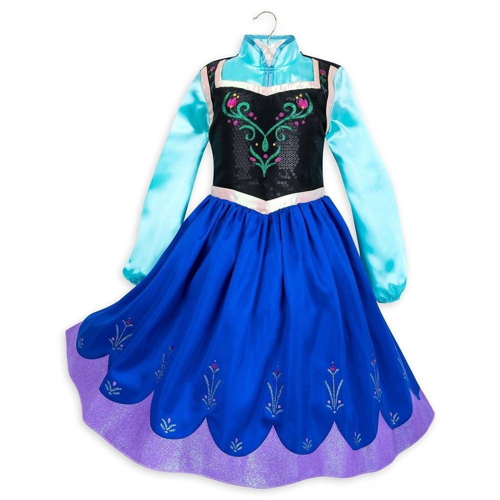 Disney Frozen 2 Anna Kids' Dress - Size 7-8 - Disney store, Girl's, Blue Deal