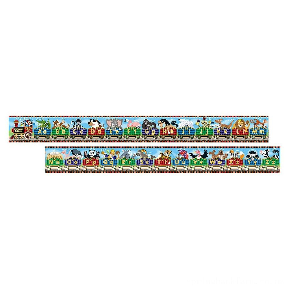 Melissa & Doug Alphabet Express Jumbo Jigsaw Floor Puzzle (27pc, 10 feet long) Deal