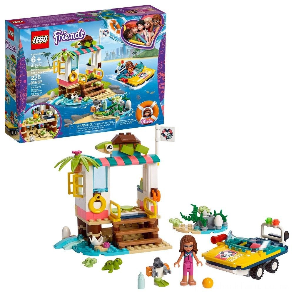 LEGO Friends Turtles Rescue Mission 41376 Building Kit Includes Toy Vehicle and Clinic 225pc Deal