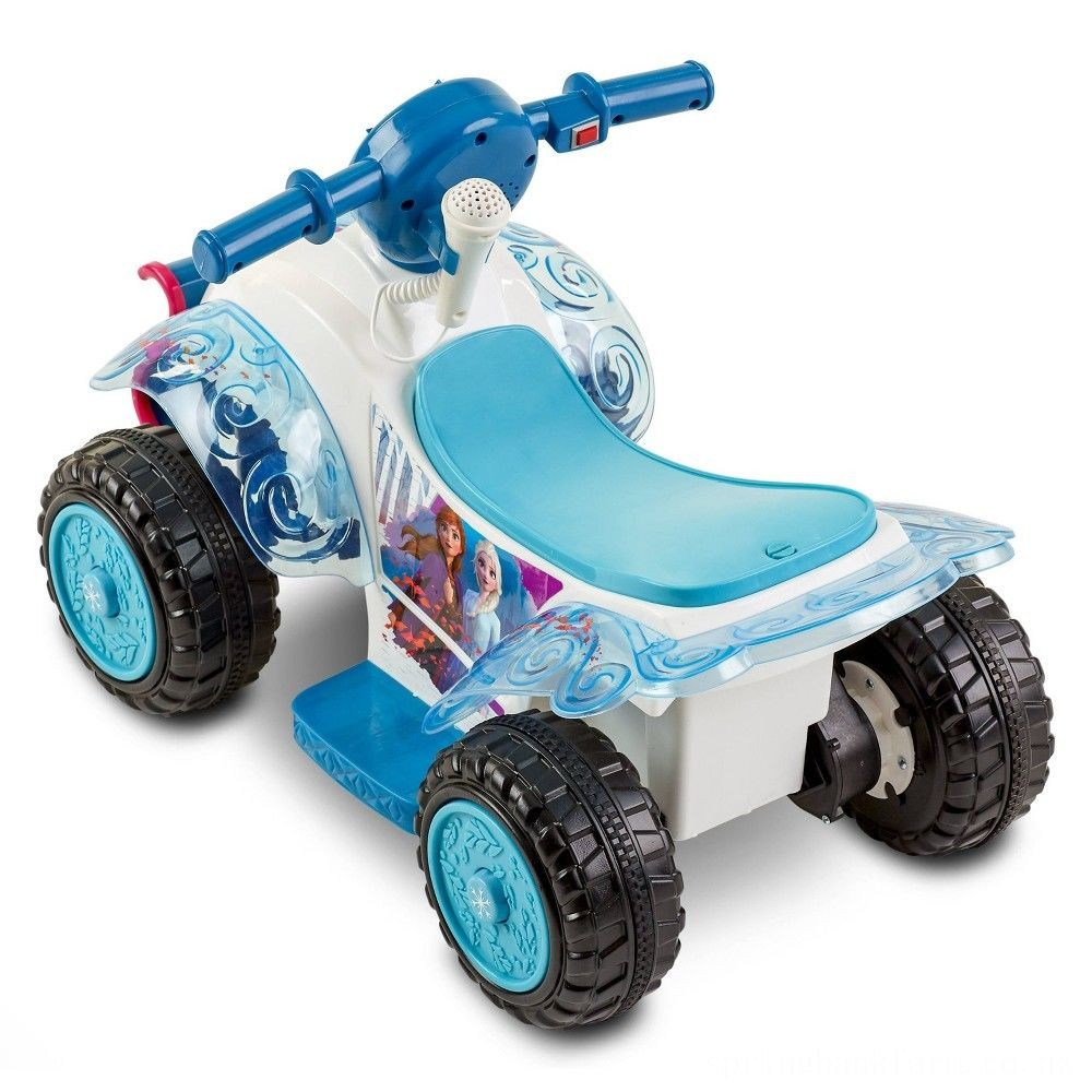 Frozen 2 Kid Trax Sing and Ride Toddler 6V Quad - White Deal