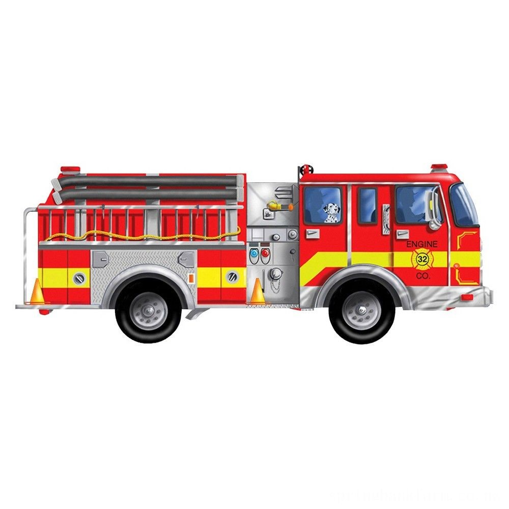 Melissa And Doug Fire Truck Jumbo Floor Puzzle 24pc Deal