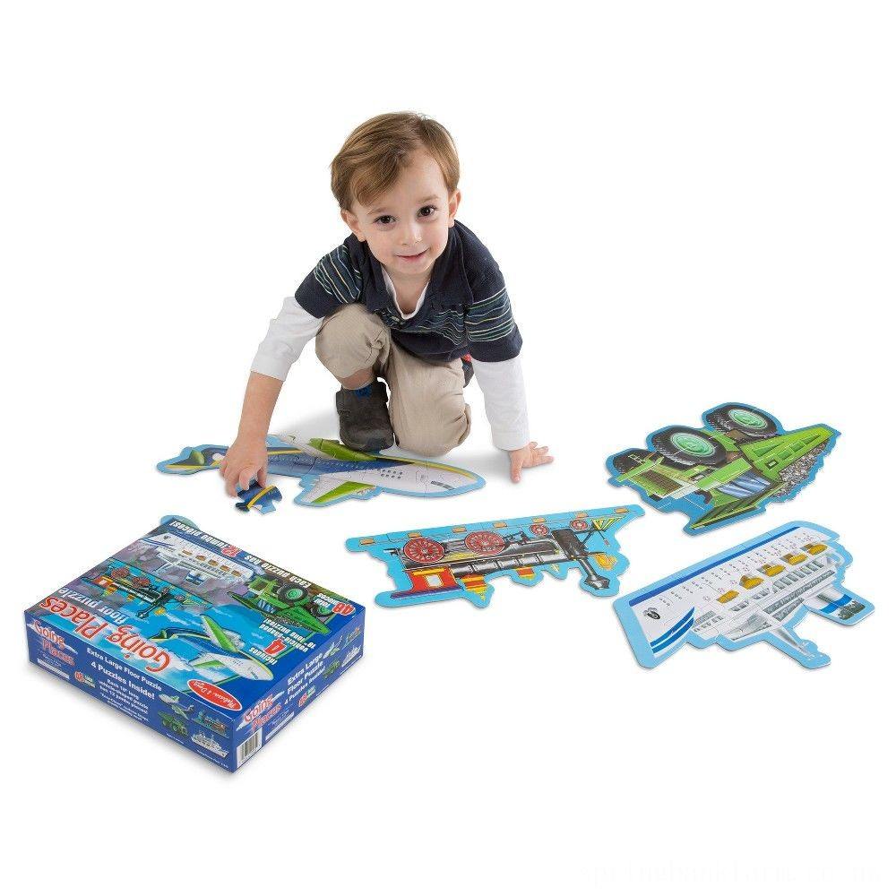 Melissa And Doug Going Places Vehicles Floor Puzzles 48pc Deal