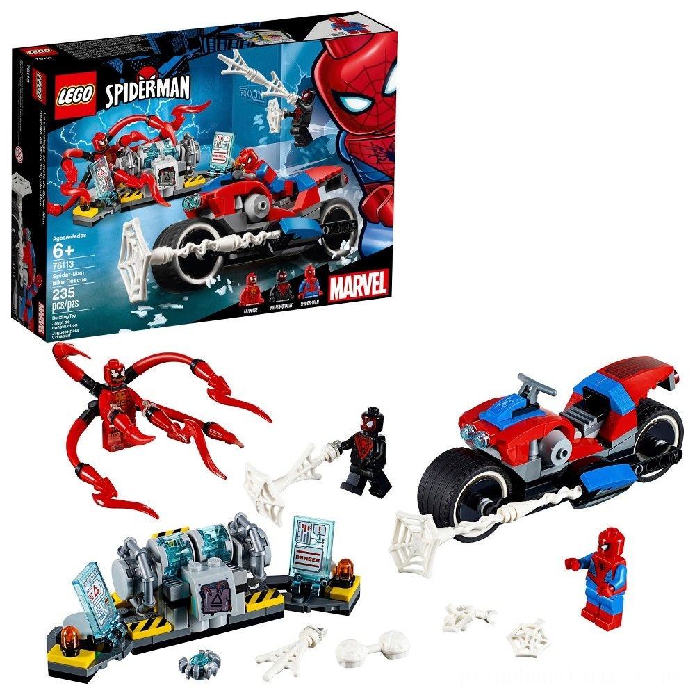 LEGO Super Heroes Marvel Spider-Man Bike Rescue 76113 Deal