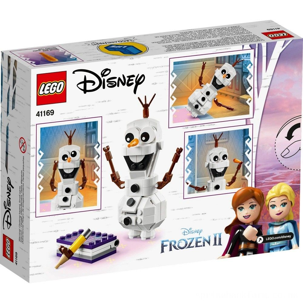 LEGO Disney Frozen 2 Olaf 41169 Olaf Snowman Toy Figure Building Kit 122pc Deal