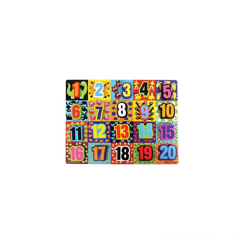 Melissa & Doug Jumbo Numbers Wooden Chunky Puzzle (20pc) Deal