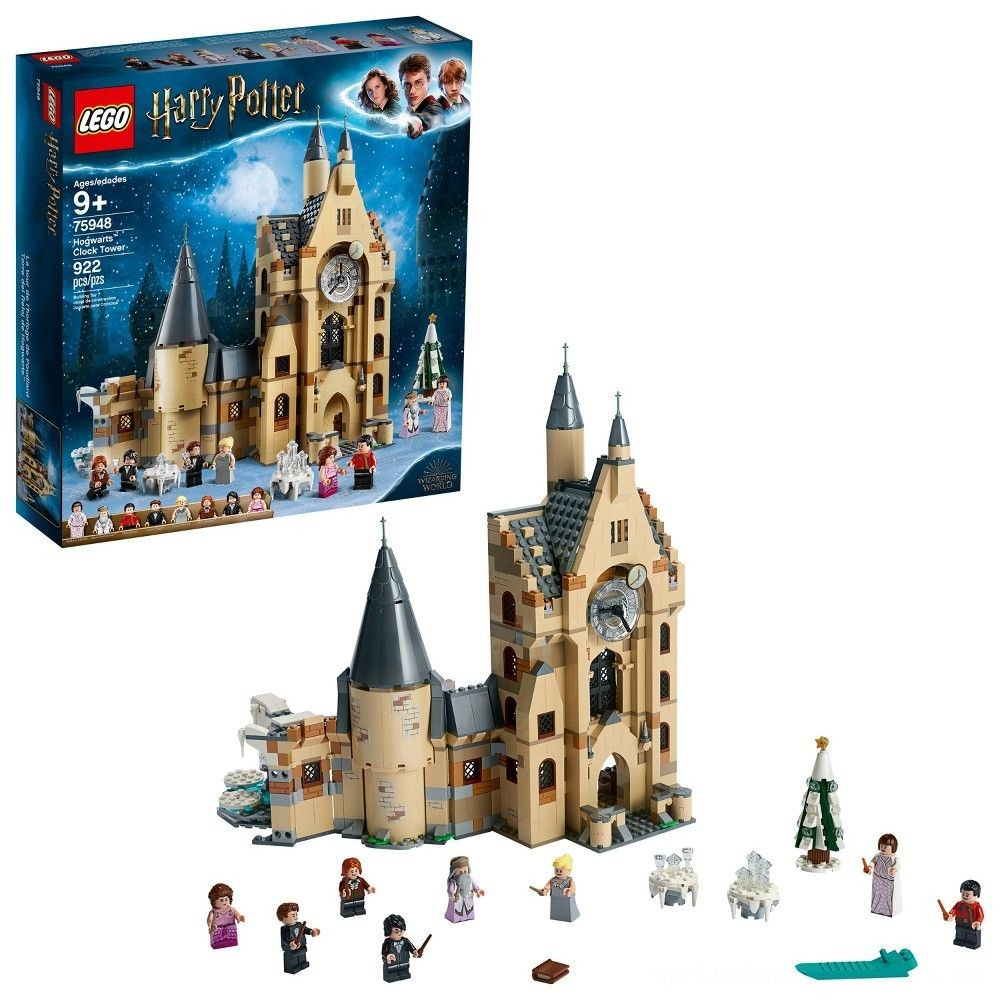 LEGO Harry Potter and The Goblet of Fire Hogwarts Clock Tower Castle Playset with Minifigures 75948 Deal