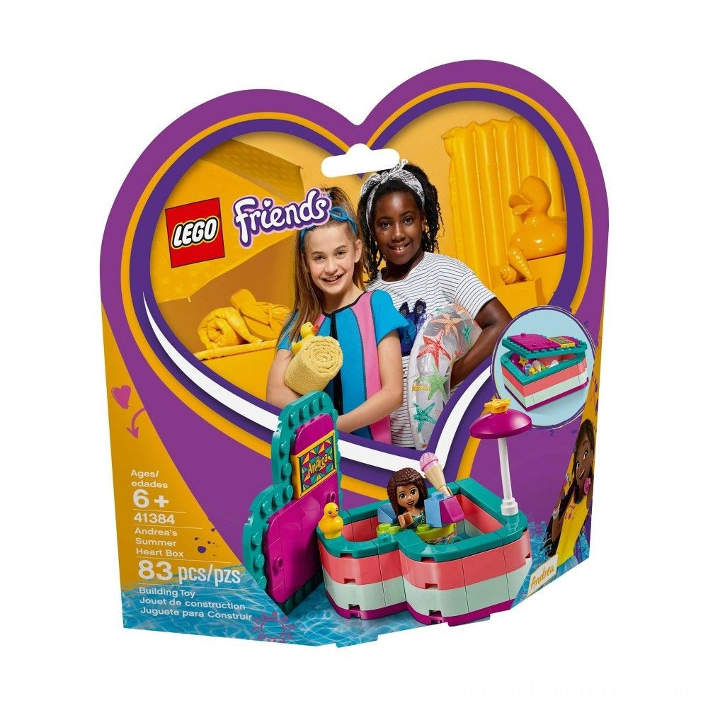 LEGO Friends Andrea's Summer Heart Box 41384 Heart Box Building Set with Andrea Mini Doll Playset 83pc Deal