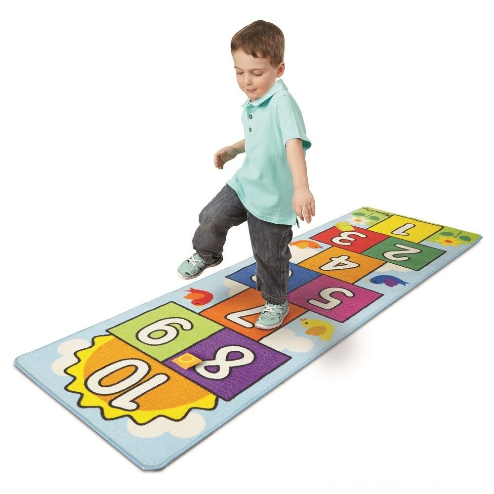 Melissa & Doug Hop & Ct Hopscotch Rug, Kids Unisex Deal