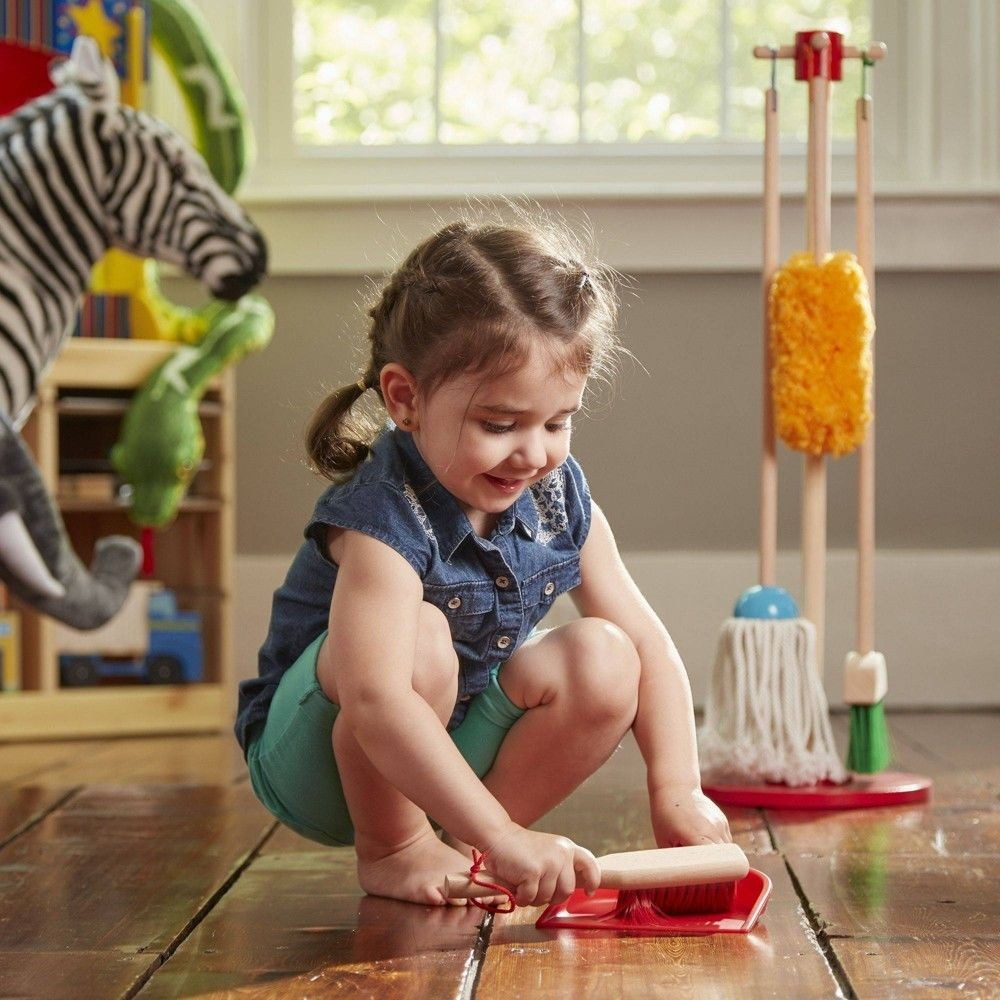Melissa & Doug Let's Play House! Dust, Sweep & Mop 6 Pc Set Deal