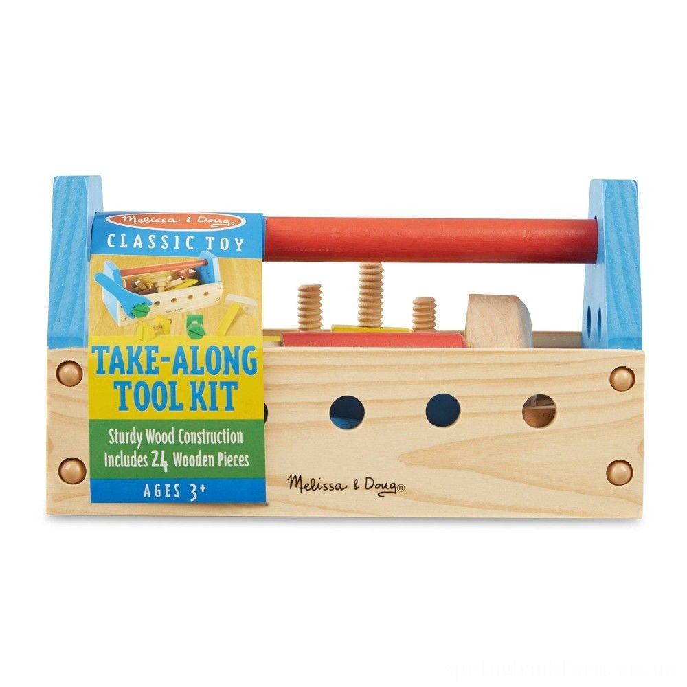 Black Friday 2020 Melissa & Doug Take-Along Tool Kit Wooden Construction Toy (24pc) Deal