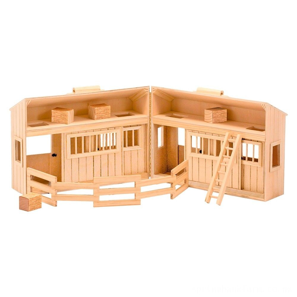 Melissa & Doug Fold and Go Wooden Horse Stable Dollhouse With Handle and Toy Horses (11 pc) Deal