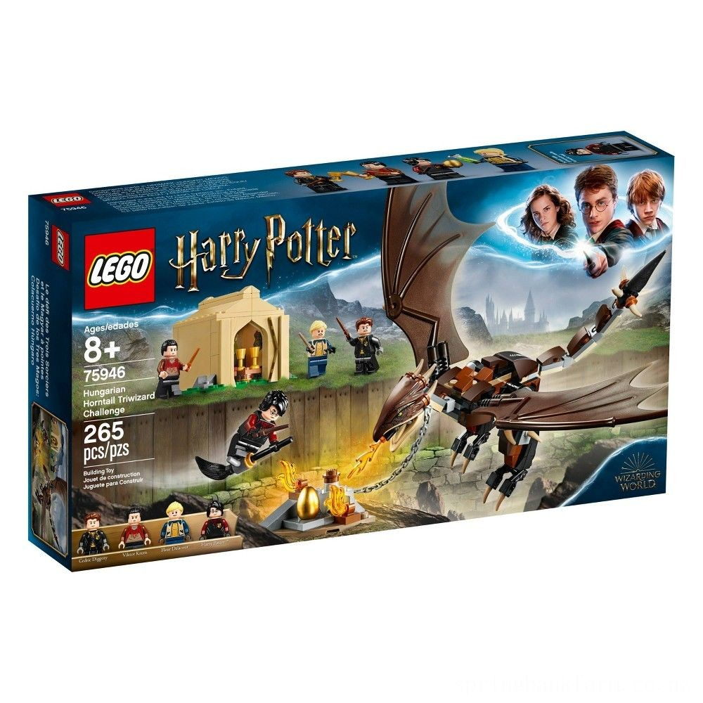 LEGO Harry Potter Hungarian Horntail Triwizard Challenge 75946 Toy Dragon Building Kit 265pc Deal