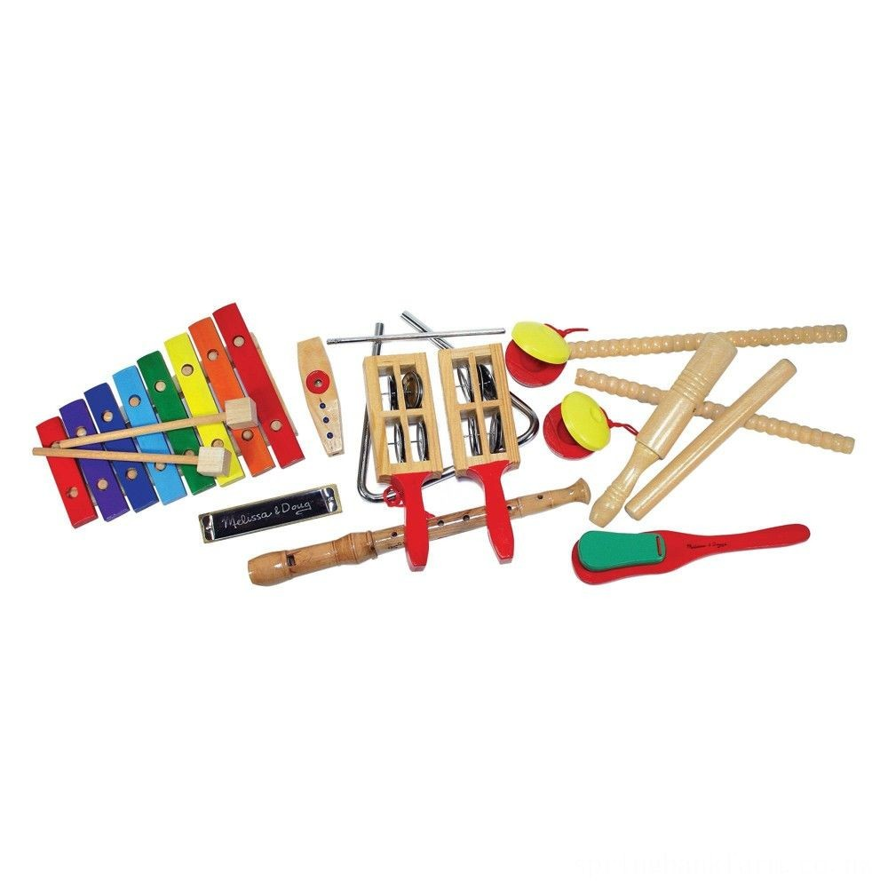 Melissa & Doug Deluxe Band Set With Wooden Musical Instruments and Storage Case Deal