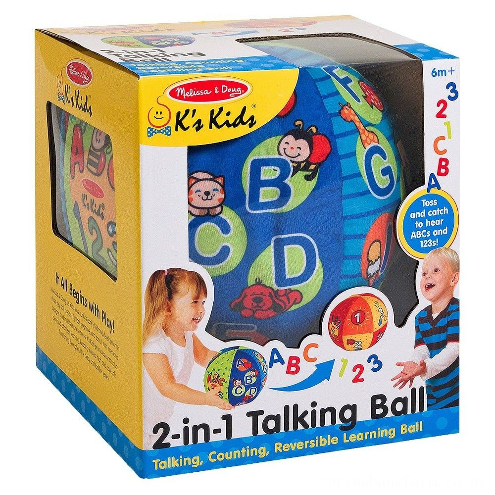 Melissa & Doug K's Kids 2-in-1 Talking Ball Educational Toy - ABCs and Counting 1-10 Deal