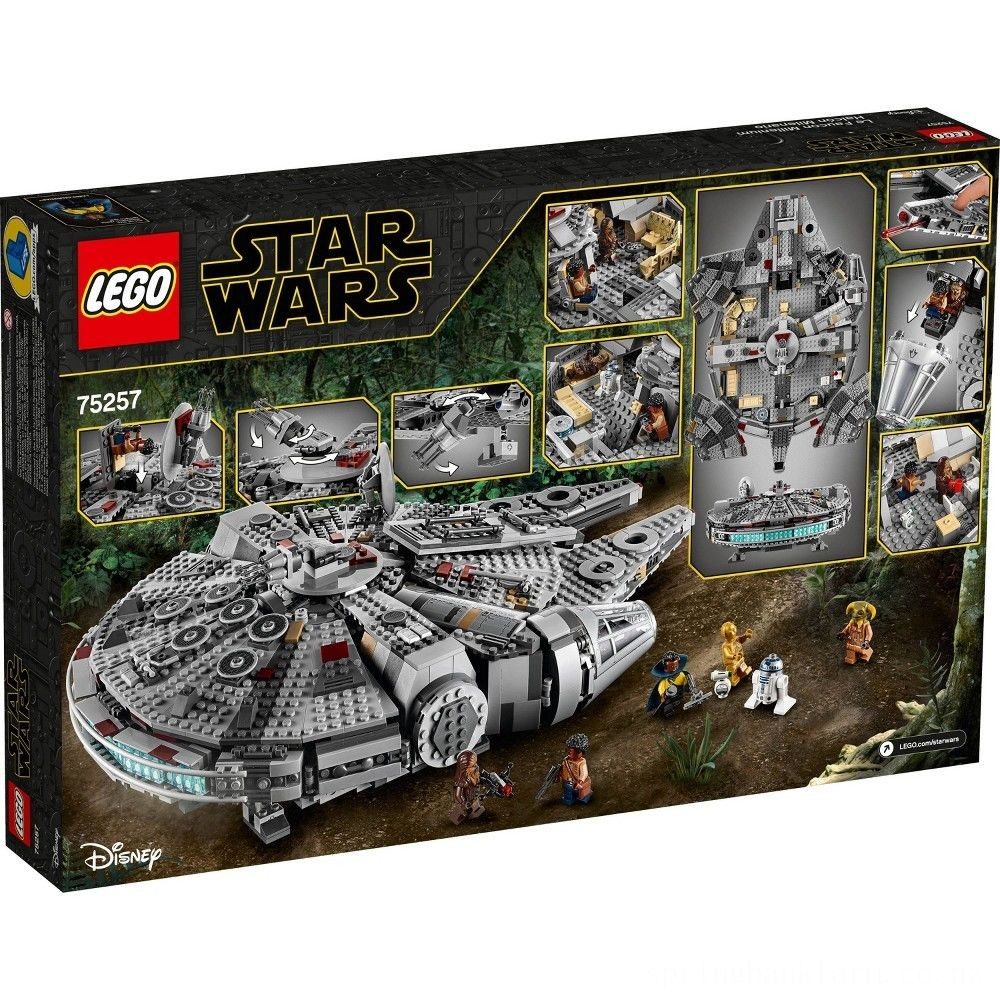 LEGO Star Wars: The Rise of Skywalker Millennium Falcon Building Kit Starship Model with Minifigures 75257 Deal