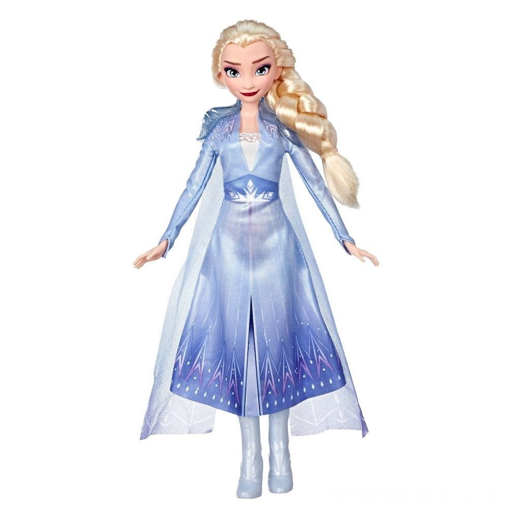 Disney Frozen 2 Elsa Fashion Doll With Long Blonde Hair and Blue Outfit Deal