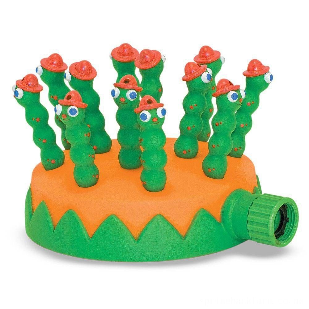 Melissa & Doug Sunny Patch Grub Scouts Sprinkler Toy With Hose Attachment, Kids Unisex Deal