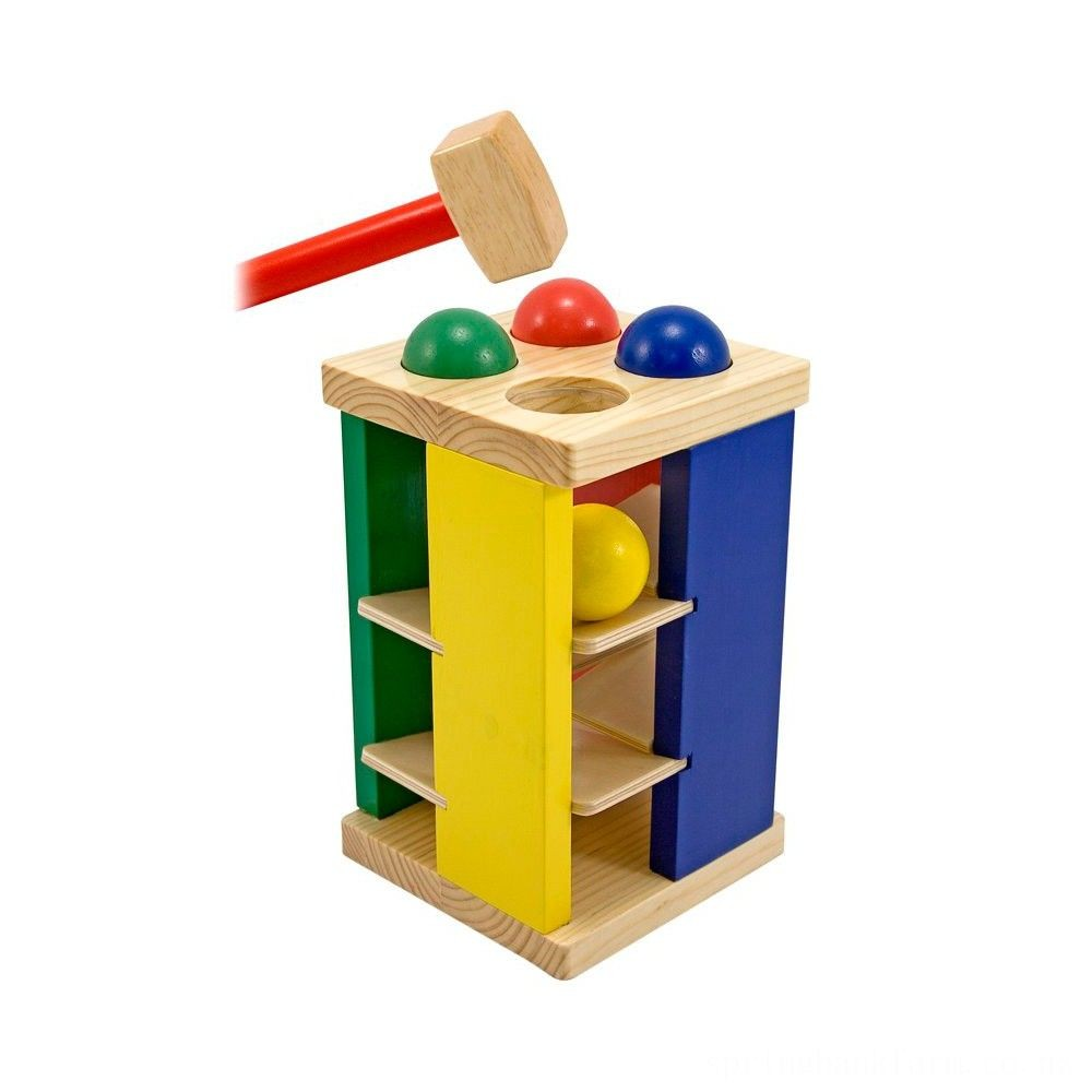 Melissa & Doug Deluxe Pound and Roll Wooden Tower Toy With Hammer Deal