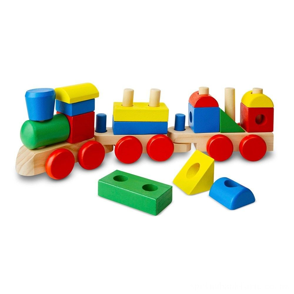 Melissa & Doug Stacking Train - Classic Wooden Toddler Toy (18pc) Deal