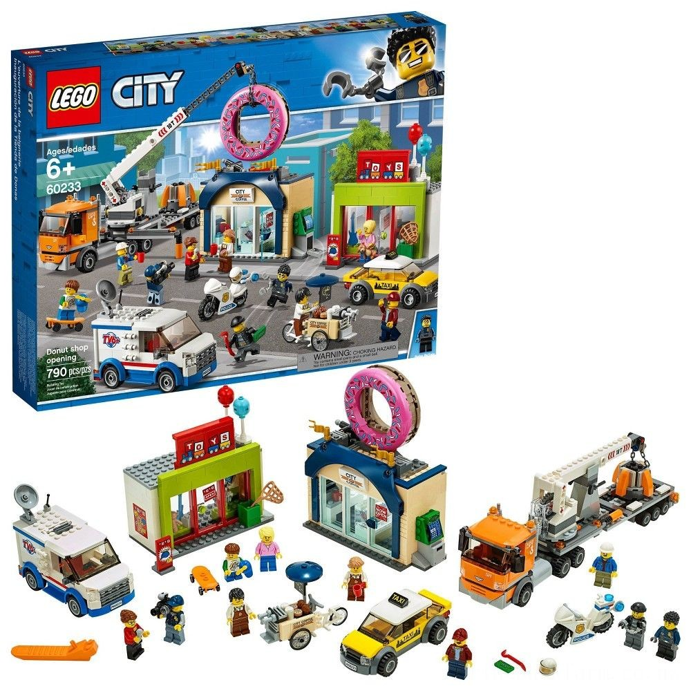LEGO City Donut Shop Opening 60233 Store Opening Build and Play with Toy Vehicles and City Minifigures Deal