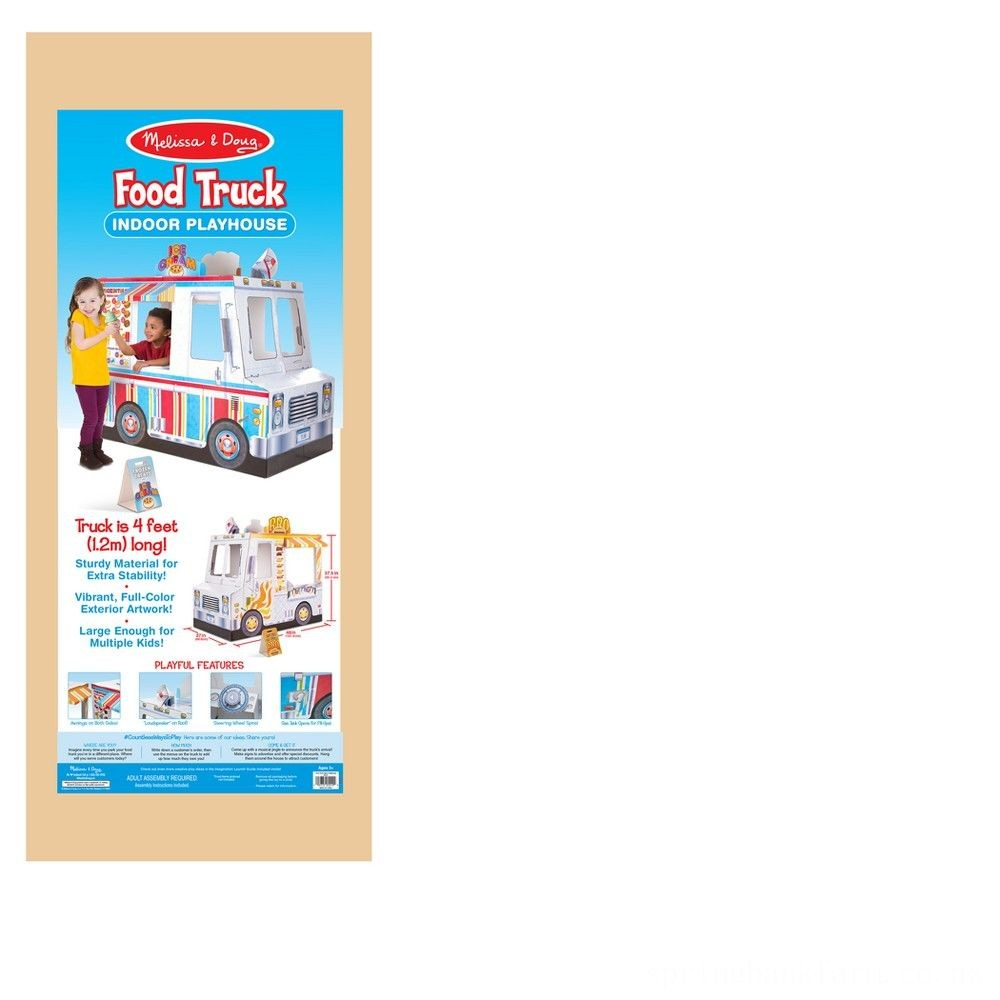 Melissa & Doug Food Truck Indoor Corrugate Playhouse (Over 4' Long) Deal