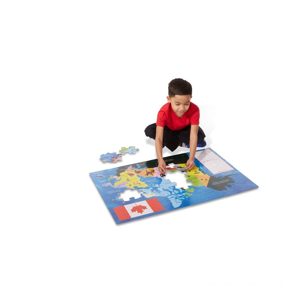 Melissa And Doug Canada Map Jumbo Floor Puzzle 48pc Deal