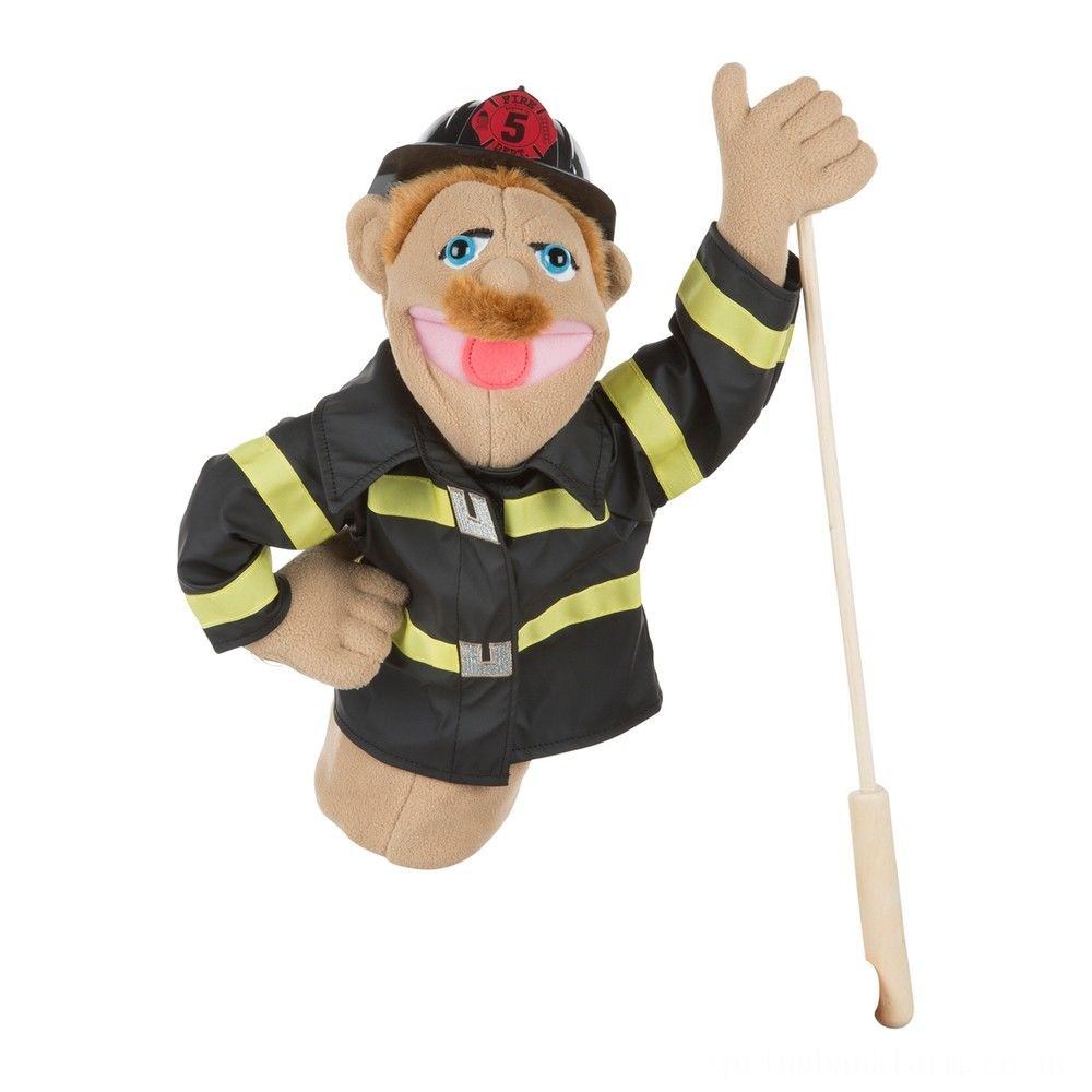 Melissa & Doug Firefighter Puppet With Detachable Wooden Rod Deal