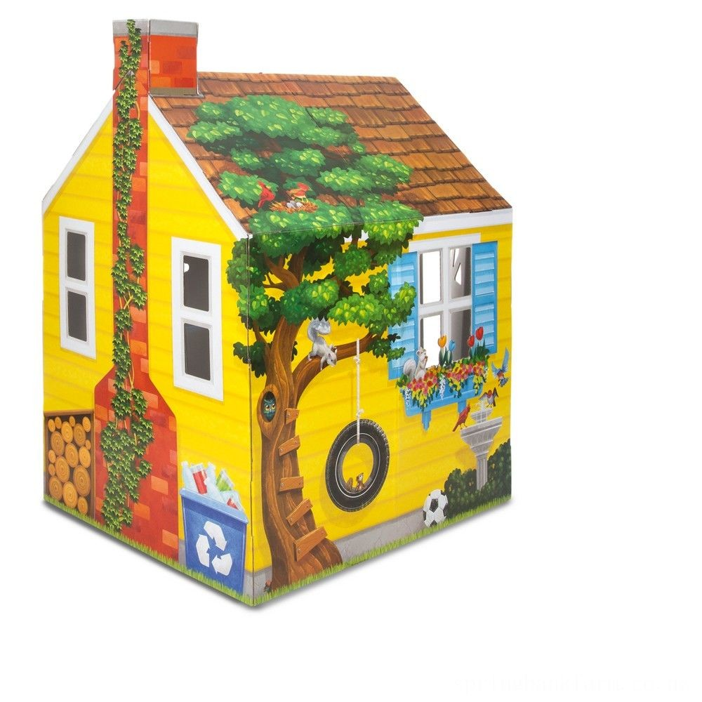 Melissa & Doug Country Cottage Indoor Corrugate Playhouse (Over 4' Tall) Deal