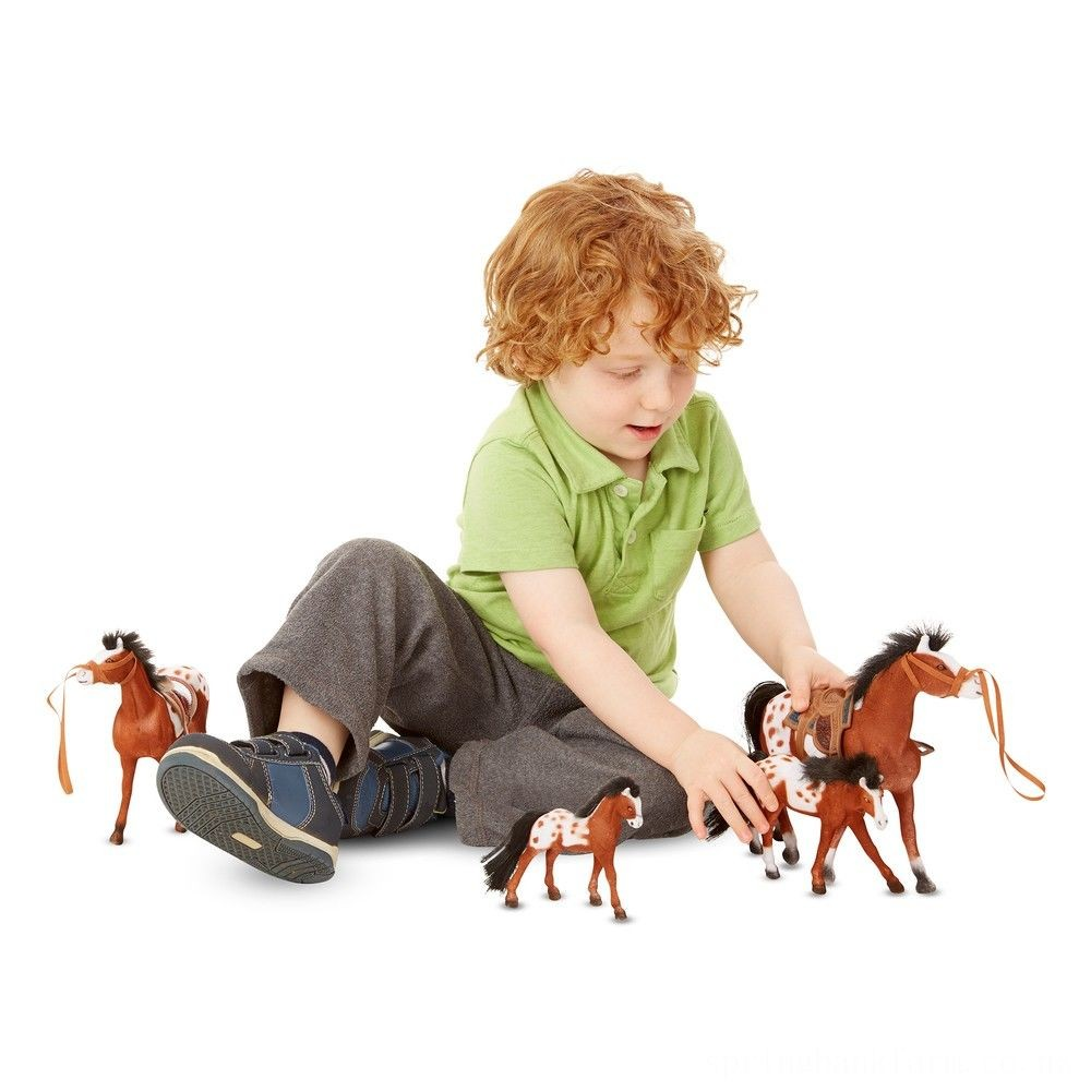 Melissa & Doug Horse Family With 4 Collectible Horses Deal