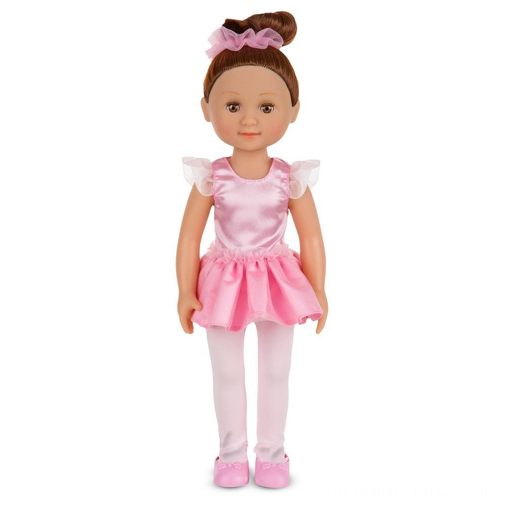 Melissa & Doug Victoria 14-Inch Poseable Ballerina Doll With Leotard and Tutu Deal