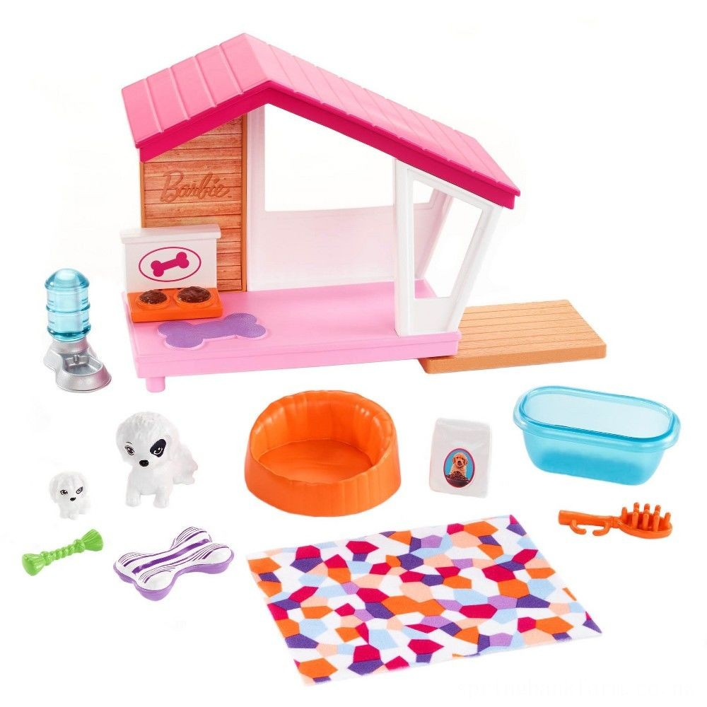 Barbie Dog House Playset, doll accessories Deal