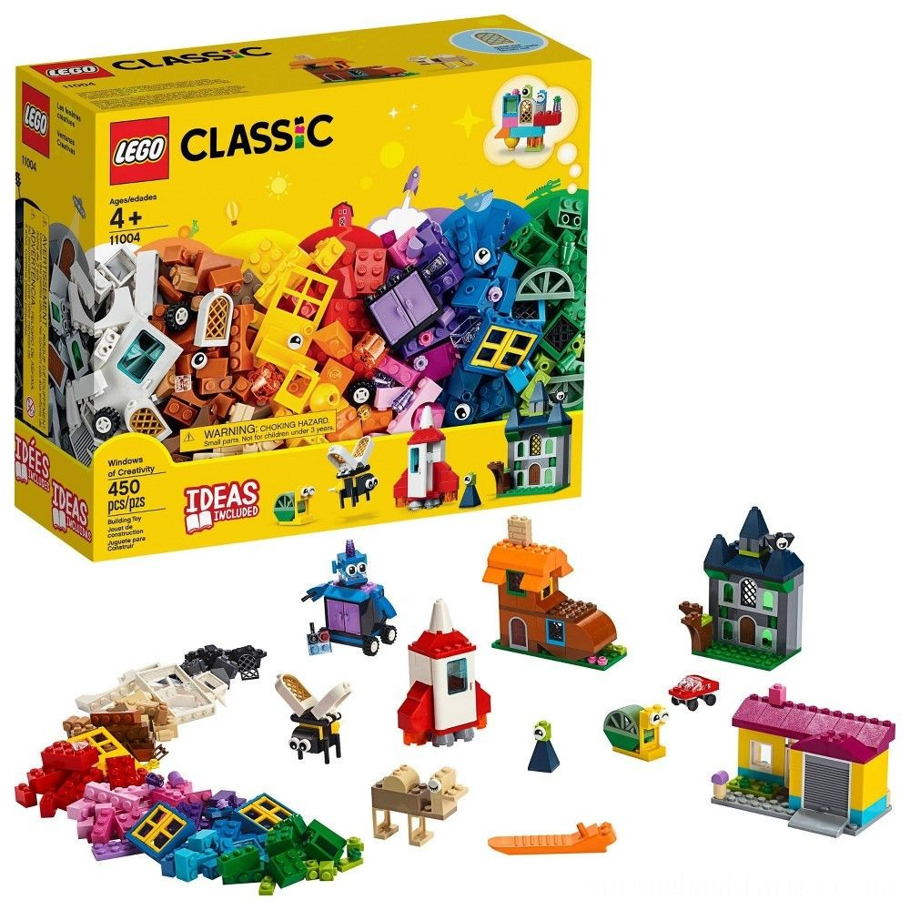 LEGO Classic Windows of Creativity 11004 Building Kit with Toy Doors for Creative Play 450pc Deal