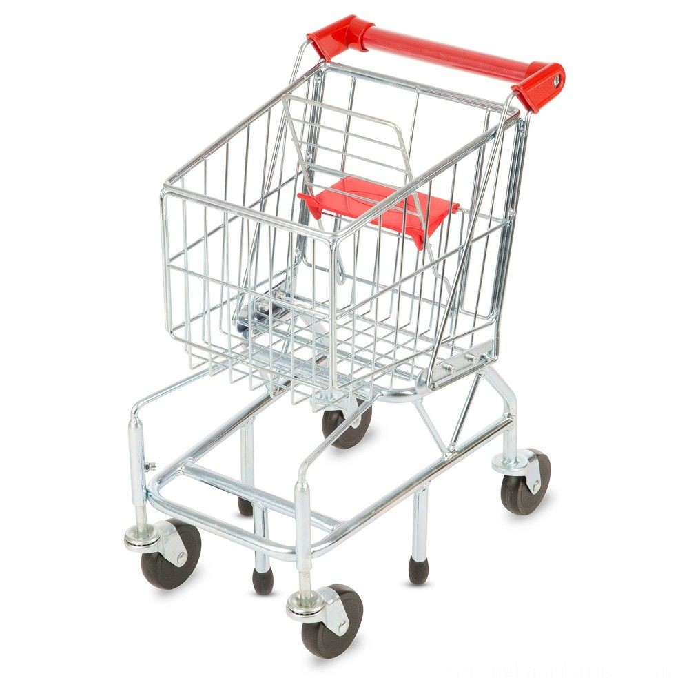 Melissa & Doug Toy Shopping Cart With Sturdy Metal Frame Deal