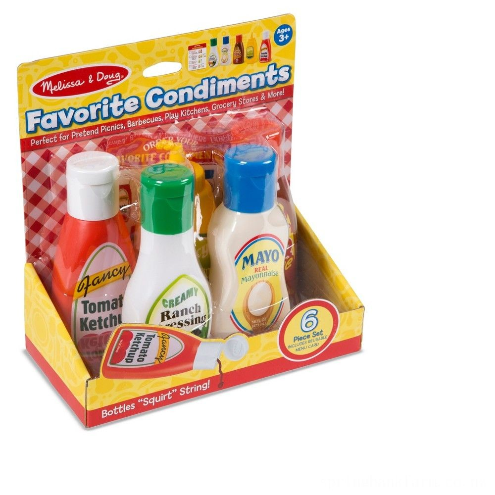 Black Friday 2020 Melissa & Doug 6pc Favorite Condiments Play Food Set Deal
