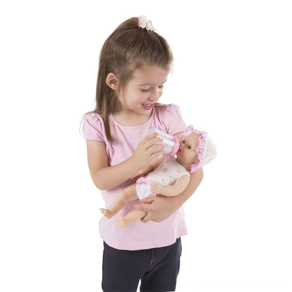 """Melissa & Doug Mine to Love Annie 12"""" Drink and Wet Baby Doll Deal"""