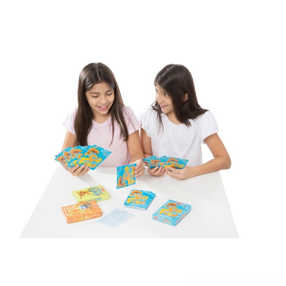 Melissa & Doug Classic Card Games Set - Old Maid, Go Fish, Rummy Deal