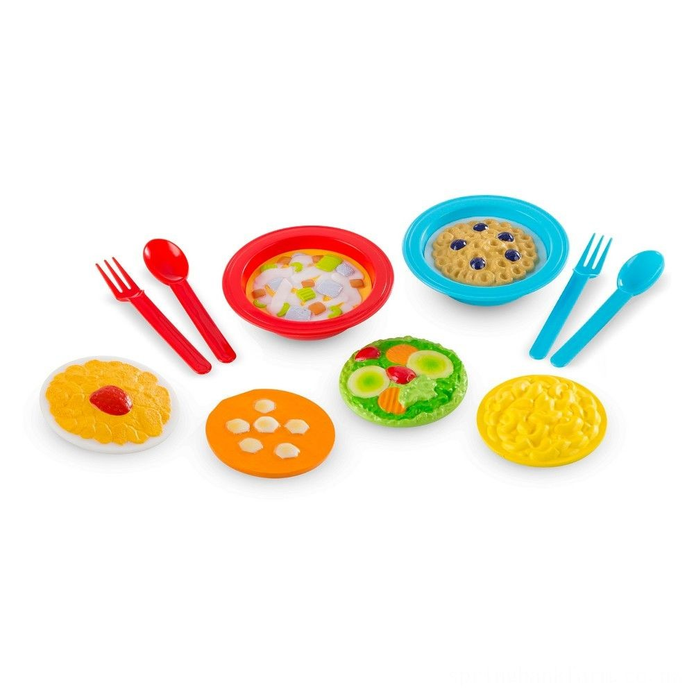 Melissa & Doug Create-A-Meal Fill Em Up Bowls (12pc) - Play Food and Kitchen Accessories Deal